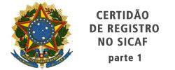 Certificado de Certidão de Registro no Sicaf