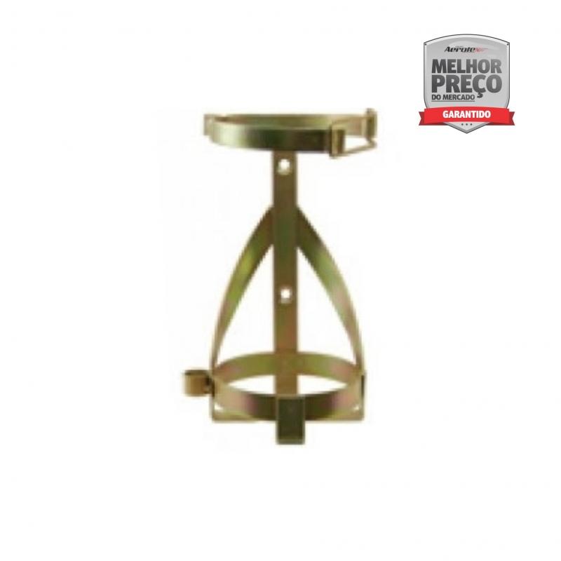 Suporte de Extintor Veicular com Haste Reforçada - Bicromatizado - PQS 8 KG - CS040