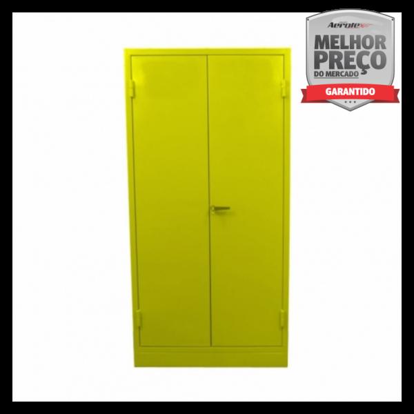 Armario Corta Fogo tipo Standard - Duas Portas 200x100x45cm Amarelo Líquidos Inflamáveis - MH1041
