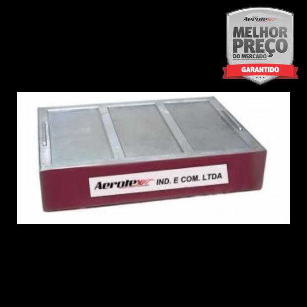 Contentor de Pingos Anti Chama Com Revestimento - Aço Inox AISI 304 - 40 x 30 x 8 CM - MH364