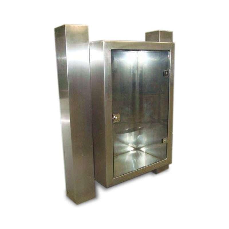 Pedestal Duplo para Abrigo de Hidrante Aço Inox 90x60x17cm 1,50m - MH444