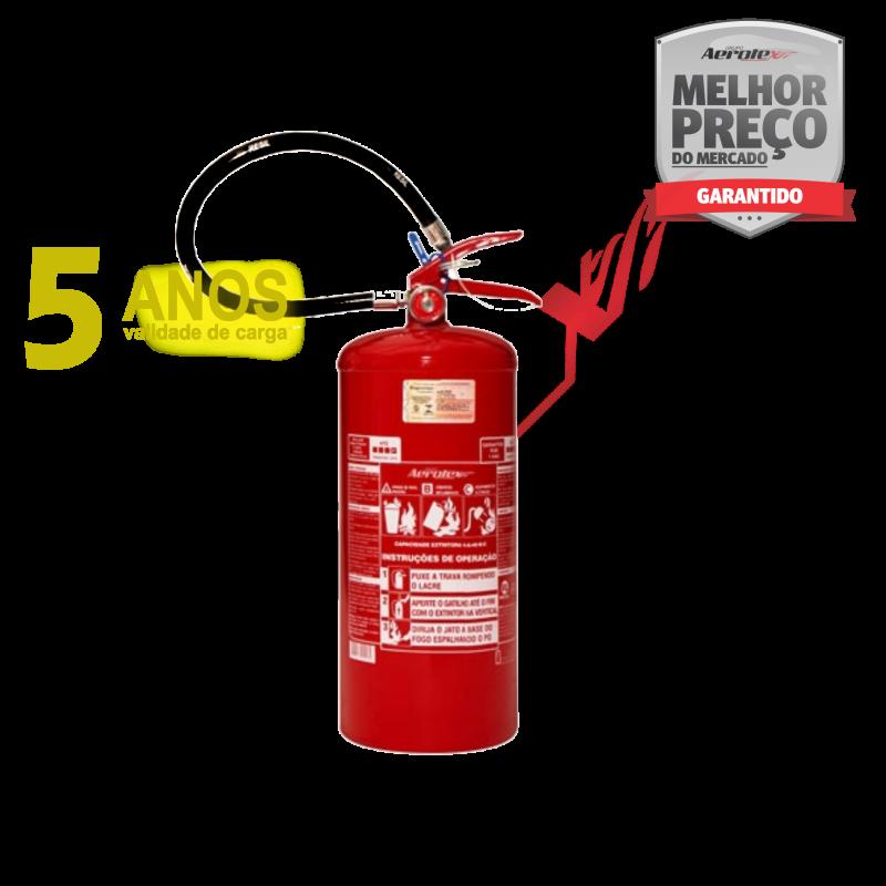 Extintor PÓ ABC LINHA GOLD - PORTÁTIL - 4A-30BC - 8Kg - uso Residencial - Comercial - Industrial - EN080 ( Garantia 05 anos)