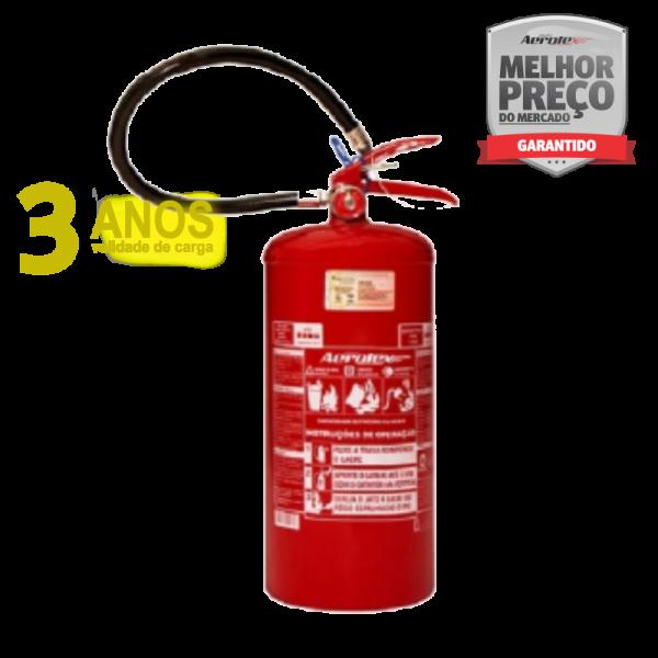 Extintor PÓ ABC - PORTÁTIL - 4A-40BC - EN015 - 8Kg - Uso Veicular e Marítimo - Micro-Onibus- Onibus - Caminhão