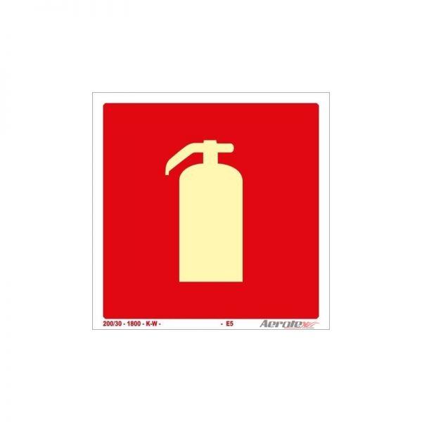 Placa Fotoluminescente Extintor ( E5 ) 30x30 cm - PF161