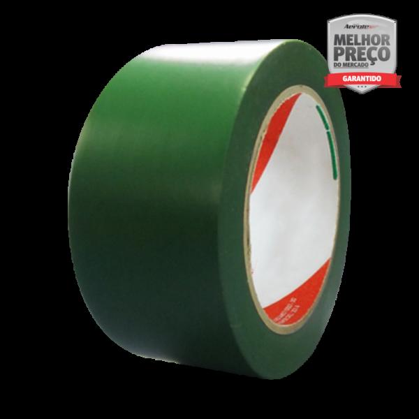 Fita de Demarcação Auto-Adesiva -''Rolo Fechado'' 5 cm x 30 metros - Verde - ES134