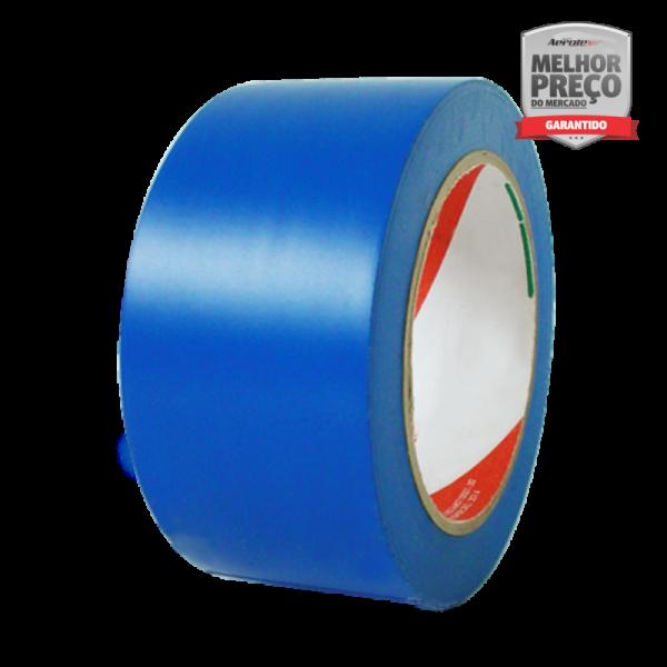 Fita de Demarcação Auto-Adesiva -''Rolo Fechado'' 5 cm x 30 metros - Azul - ES135